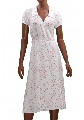 Grace et Mila robe porte feuille blanche